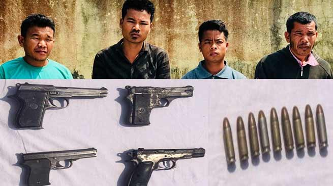 Assam : Security forces apprehended 4 KPLT(AT) cadres with Arms and Ammunition