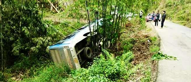 Nagaland: 4 Students from Kohima Bible College injured in a bus accident