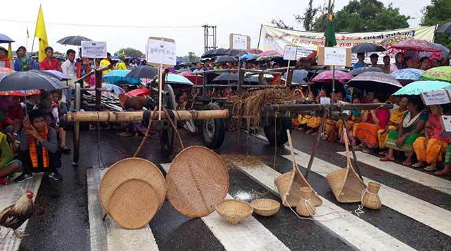 Assam:  5 Days National Highway Blockade by ABSU begins