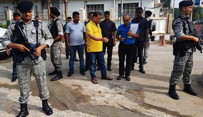 Assam: Himanta inspects the road condition in Guwahati city