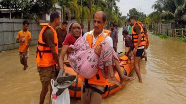 Tripura; Flood situation improves but several localities still remain submerged