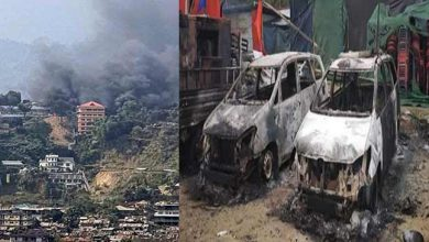 Photo of Arunachal: Protesters burnt down Dy CM's residence in Itanagar
