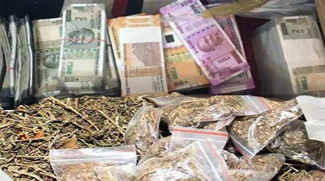 Assam:  Cash, narcotic drugs seized in Hailakandi