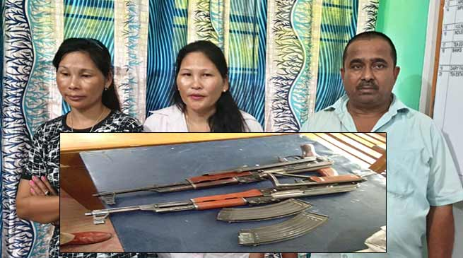 Assam: 3 including 2 women arrested with AK-56 Rifle