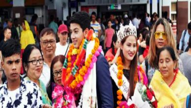 Photo of Manipur: Lukanand Kshetrimayum and Langpoklakpam Melody receive a rousing welcome at Imphal