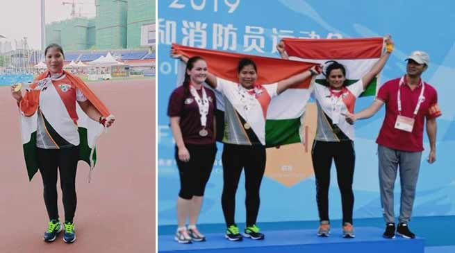 Assam: Shot-putter Tunlai Narzary wins Gold in World Police & Fire Games held at China