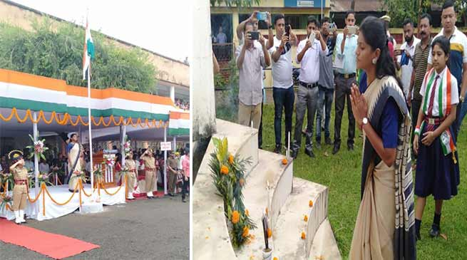 Assam:  DC, Keerthi Jalli unfurls national tricolour in Hailakandi