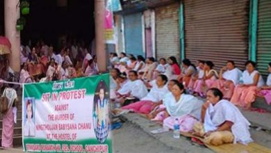 Photo of Manipur: women sit-in protest against death of Baby Sana
