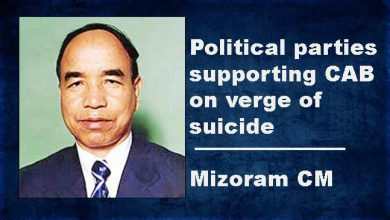 Photo of Political parties supporting CAB on verge of suicide: Mizoram CM Zoramthanga