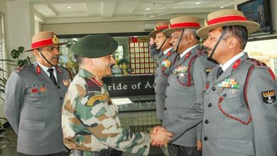 Photo of Meghalaya: Eastern Army Commander visits Assam Rifles HQ Shillong