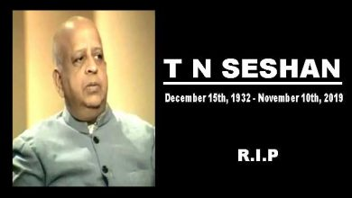 Photo of Former CEC T N Seshan passes away