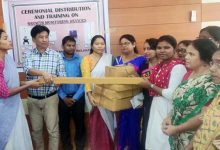 Photo of Monitoring growth devices distributed to anganwadi workers